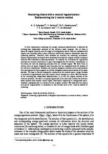 Scattering theory with a natural regularization: Rediscovering ... - arXiv