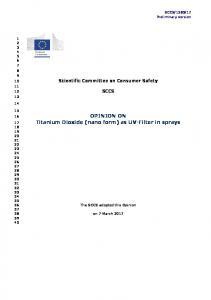 SCCS - European Commission - Europa EU