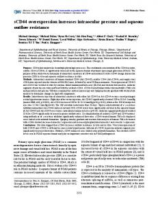 sCD44 overexpression increases intraocular ... - BioMedSearch