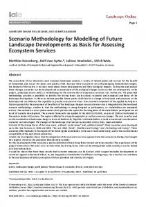 Scenario Methodology for Modelling of Future Landscape ...