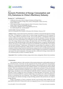 Scenario Prediction of Energy Consumption and CO2 ... - MDPI