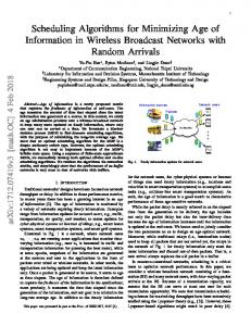 Scheduling Algorithms for Minimizing Age of Information in Wireless