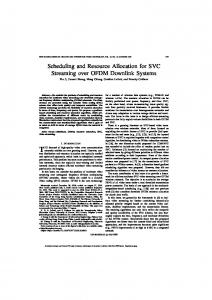 Scheduling and Resource Allocation for SVC ... - Princeton University