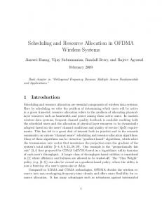 Scheduling and Resource Allocation in OFDMA Wireless Systems
