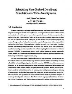 Scheduling Fine-Grained Distributed Simulations ... - Semantic Scholar