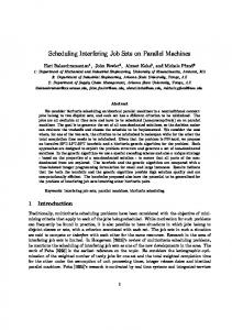 Scheduling Interfering Job Sets on Parallel Machines