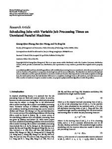 Scheduling Jobs with Variable Job Processing Times on Unrelated ...