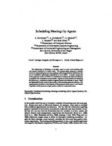 Scheduling Meetings by Agents