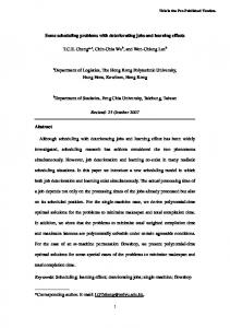 Scheduling problems combined with general leaning effect and job ...