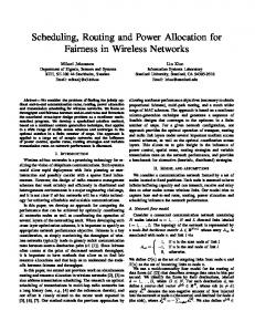 Scheduling, Routing and Power Allocation for Fairness in Wireless ...