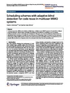 Scheduling schemes with adaptive blind detection for code reuse in ...