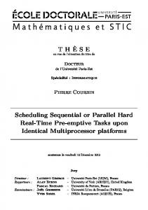Scheduling Sequential or Parallel Hard Real-Time ...