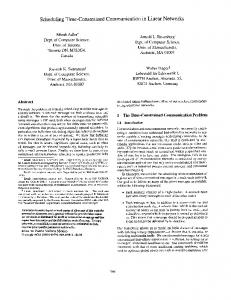 Scheduling Time-Constrained Communication in Linear Networks