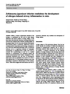 Schistosoma japonicum infection modulates the ... - Springer Link