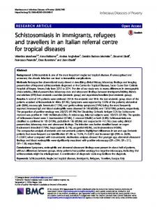 Schistosomiasis in immigrants, refugees and travellers in an Italian ...