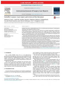 Schloffer's tumor: Case report and review of the literature