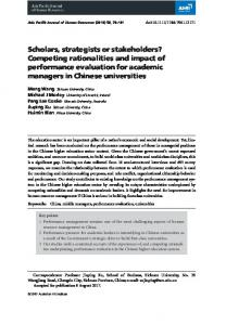 Scholars, strategists or stakeholders ... - Wiley Online Library