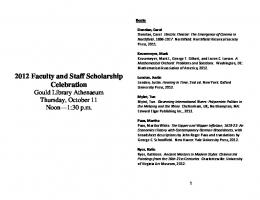 scholarship entries. - Carleton College