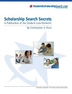 Scholarship Search Secrets Fourth Edition