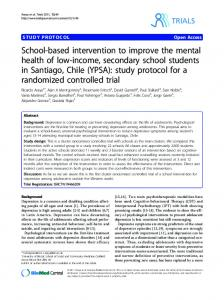 School-based intervention to improve the mental ... - BioMedSearch