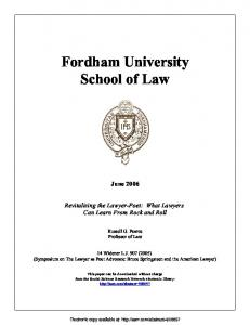 School of Law - (SSRN) Papers