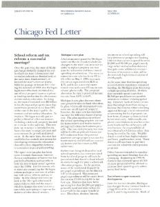 School reform and tax reform - Federal Reserve Bank of Chicago