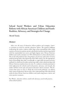 School Social Workers and Urban Education Reform with African ... - Eric