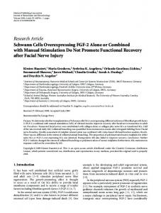 Schwann Cells Overexpressing FGF-2 Alone or Combined with