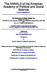 Science Academy of Political and Social The ...