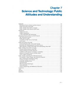 Science and Technology: Public Attitudes and Understanding