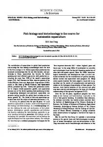 SCIENCE CHINA Fish biology and biotechnology is ... - Springer Link