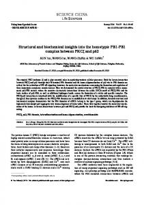 SCIENCE CHINA Structural and biochemical insights into the ... - Core
