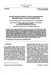 SCIENCE CHINA Thermal expansion behaviors of Mn(II