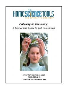 Science Fair Project Guide for First-Timers