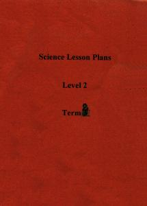 Science Lesson Plan Level 2 Term 2