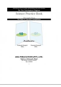 Science Practice Book