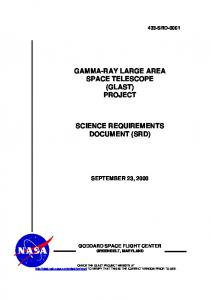 Science Requirements Document - Fermi - NASA