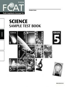 Science Sample Test Book
