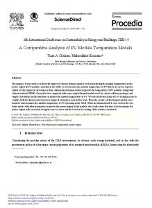 ScienceDirect A Comparative Analysis of PV Module