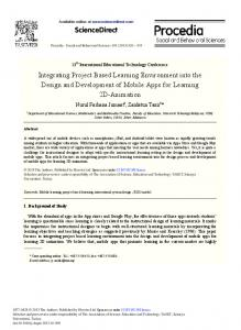 ScienceDirect Integrating Project Based Learning ...