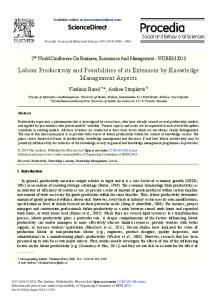 ScienceDirect Labour Productivity and Possibilities of ...