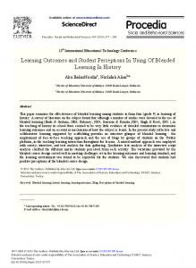 ScienceDirect Learning Outcomes and Student ...