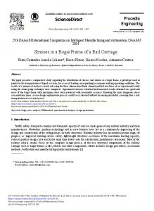 ScienceDirect Stresses in a Bogie Frame of a Rail ...