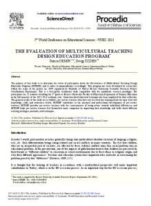 ScienceDirect THE EVALUATION OF ...