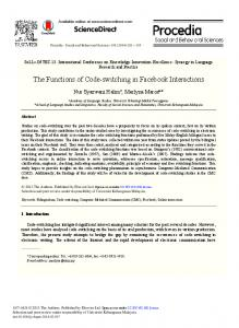 ScienceDirect The Functions of Code-switching in