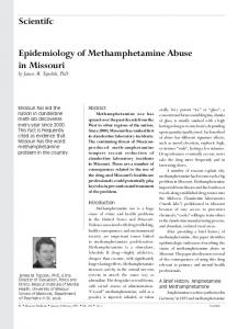 Scientifc Epidemiology of Methamphetamine Abuse in