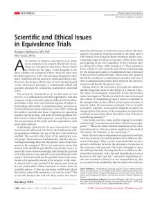 Scientific and Ethical Issues in Equivalence Trials-JAMA.pdf