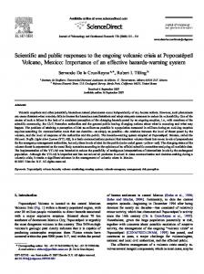 Scientific and public responses to the ongoing volcanic ... - CiteSeerX