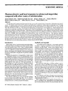 SCIENTIFIC ARTICLE Pharmacokinetics and local responses to ...