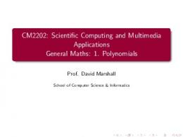 Scientific Computing and Multimedia Applications